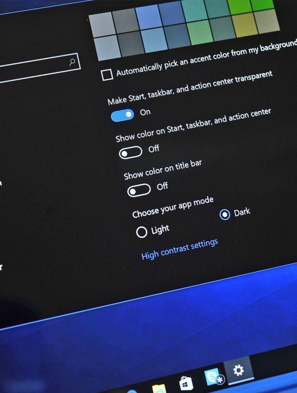 Como utilizar modo oscuro en Windows 10 portada