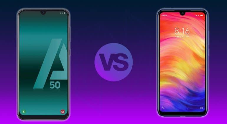 Comparativa Samsung A50 vs Redmi Note 7