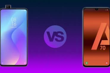 Comparativa Xiaomi Mi 9T vs Galaxy A70