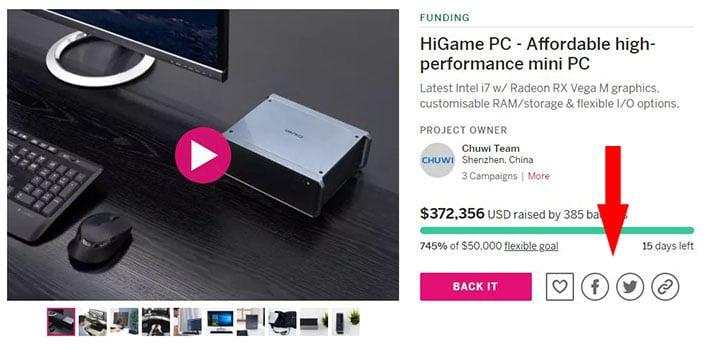Concurso HiGame compartir en redes