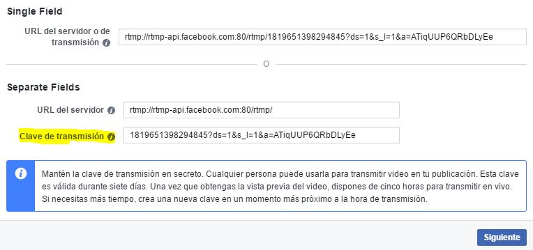 Conectando OBS a Facebook 1