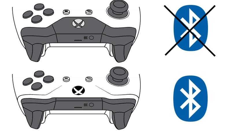 Control Xbox One con Bluetooth y sin Bluetooth