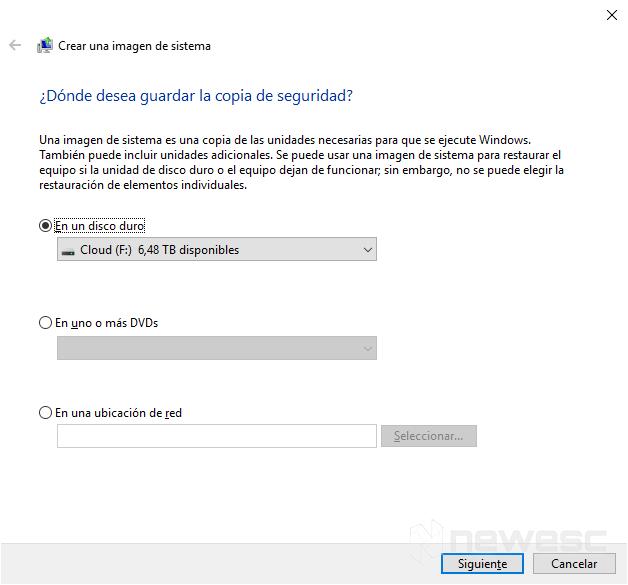 Copia de seguridad completa de Windows 10 2