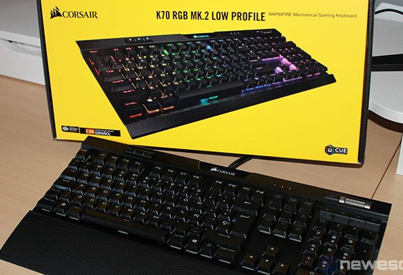 Corsair K70 RGB MK.2 Low Profile Rapidfire destacada