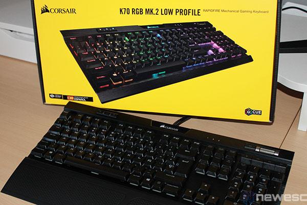 Corsair K70 RGB MK.2 Low Profile Rapidfire destacada