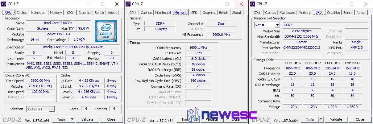 Corsair Vengeance RGB Pro CPU Z
