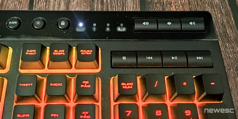 Corsair K57 RGB Wireless Teclasmultimedia
