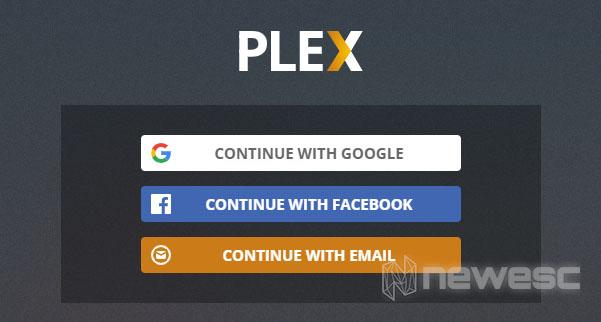 Crear usuario Plex