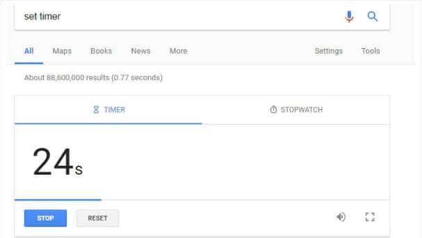 Cronometro de google