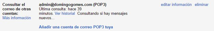 Cuentas POP3