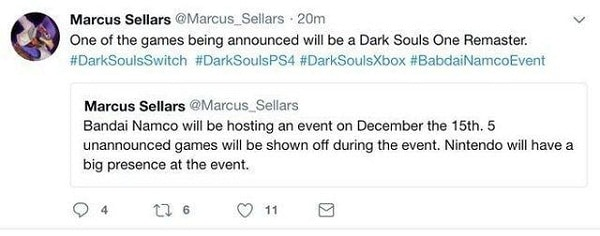 Dark Souls Remasterizado Rumor
