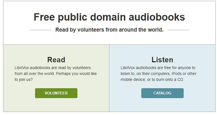 Descargar audiolibros gratis LibriVox