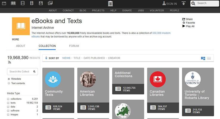 Descargar ePub Gratis - Archivo de Internet