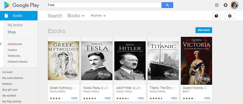 Descargar libros gratis - Google Play Store