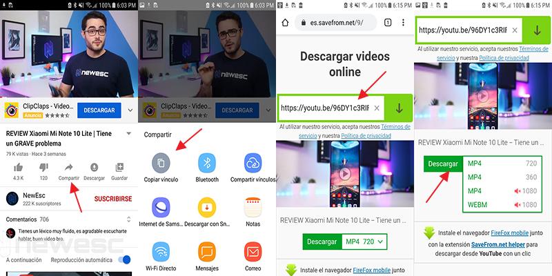 Descargar videos de youtube en savefrom