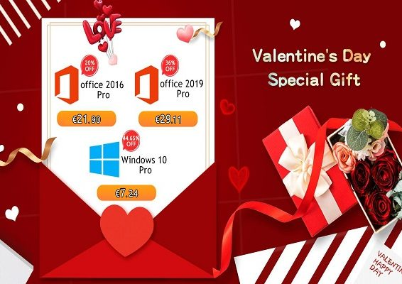 Descuentos de San Valentín en Keys de Windows 10