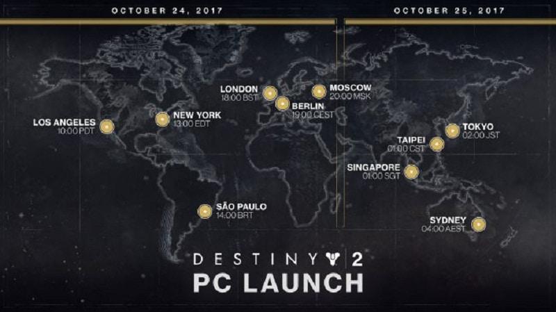 Destiny 2 Horario PC