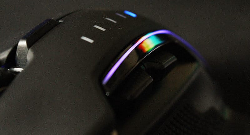 Detalle Review ratón Corsair Glaive RGB NewEsc