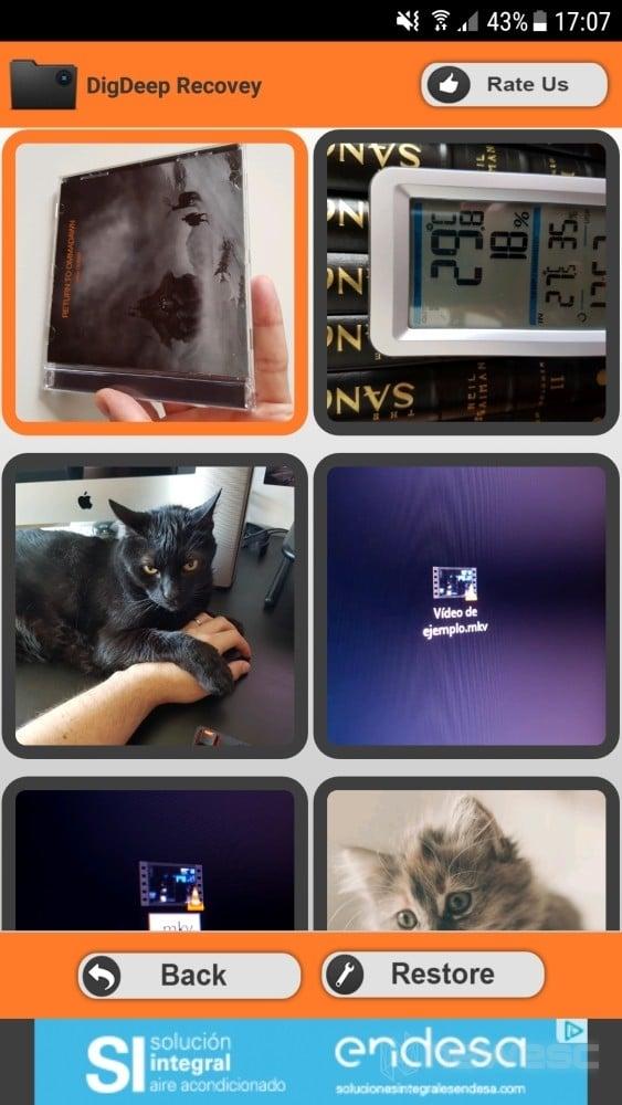 DigDeep Recuperar Fotos borradas en Android