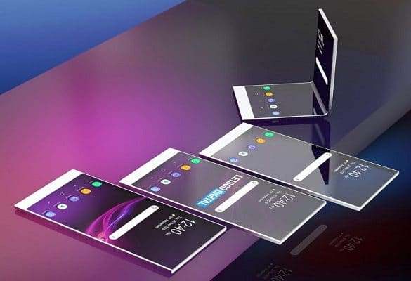 Diseño concptual filtrado del Sony plegable