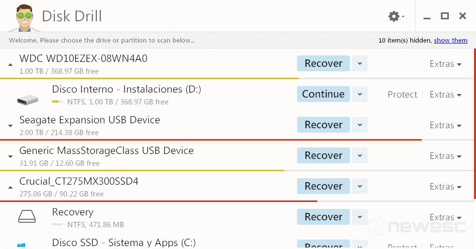 Disk Drill recuperar archivos borrados