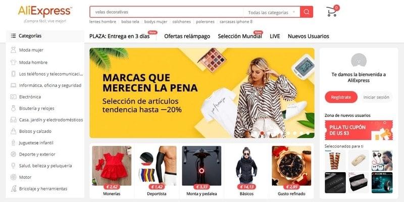 Donde comprar móviles chinos en España - AliExpress