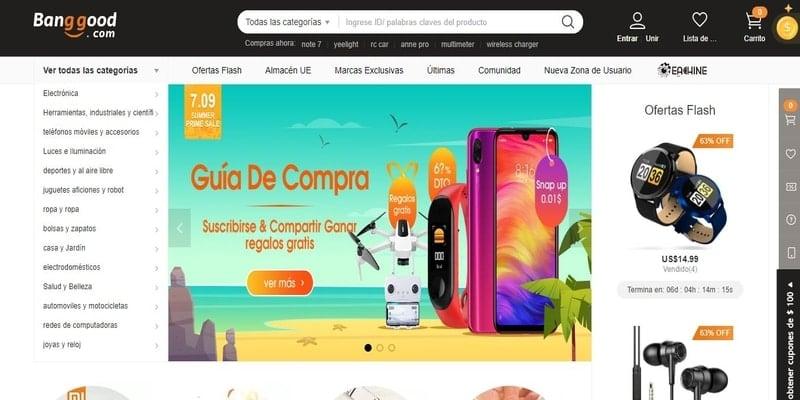 Donde comprar móviles chinos en España - Bang Good