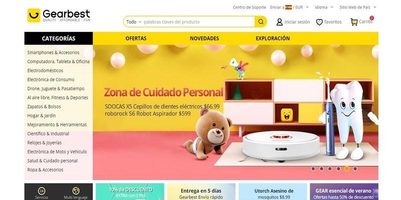 Donde comprar móviles chinos en España - Gearbest