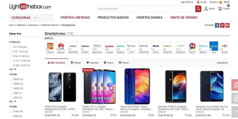 Donde comprar móviles chinos en España - Light In The Box