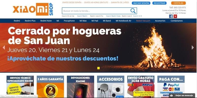 Donde comprar móviles chinos en España - Xiaomi mi Shop