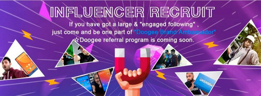 Doogee Programa de influencers