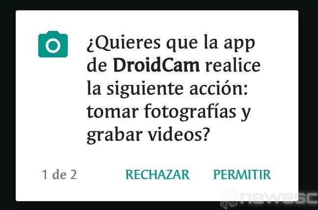 DroidCam app instalación 2