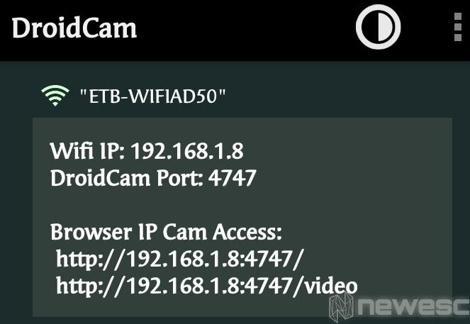 DroidCam app instalación 3 1