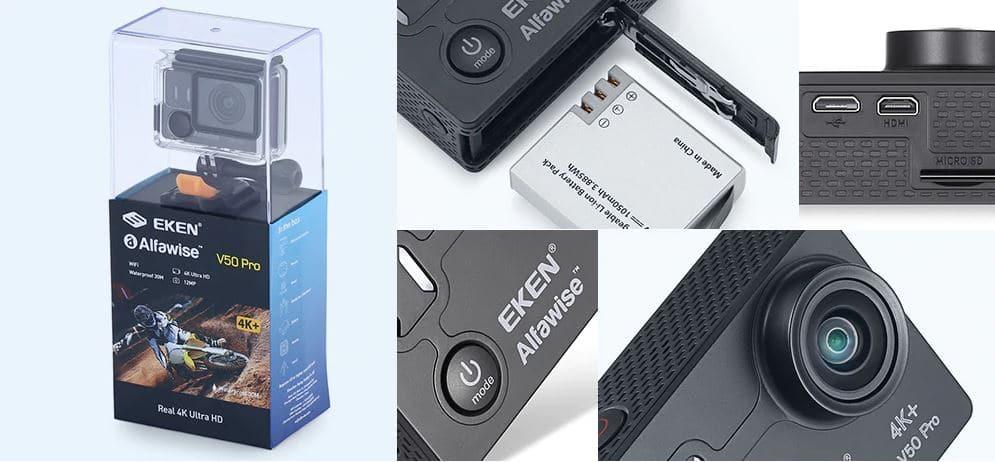 EKEN Alfawise V50 Pro diferentes angulos