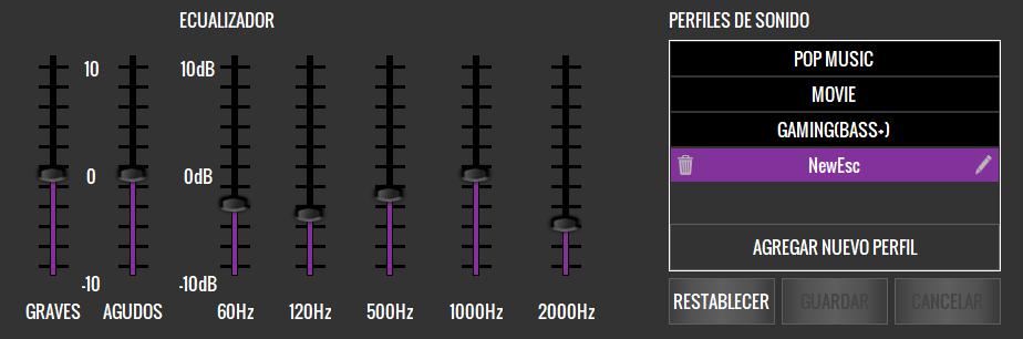 Ecualizador MH650 App de los Cascos