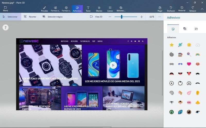 Editor de fotos Paint 3D Windows 10