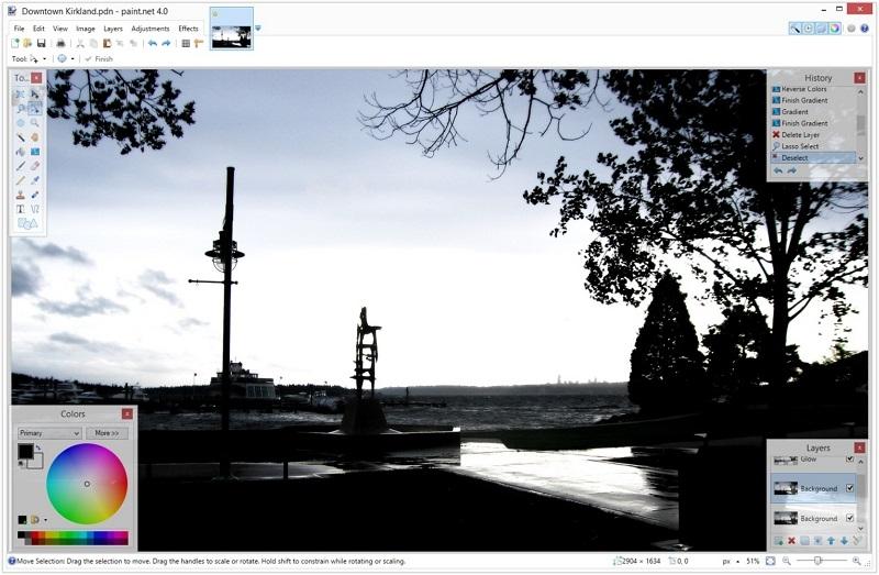 Editor de imágenes para PC Paint NET