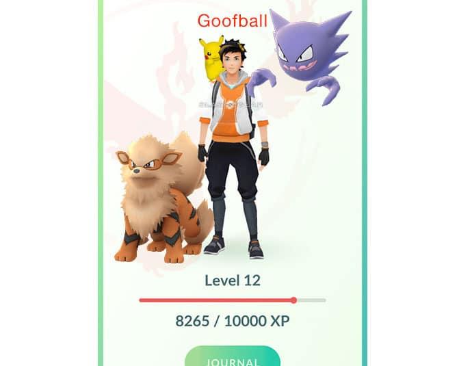 Ejemplo de compañeros Pokémon