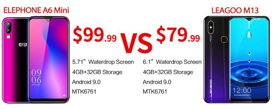 Elephone A6 Mini vs LEAGOO M13