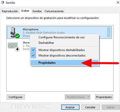 Eliminar ruido de fondo micrófono Windows4