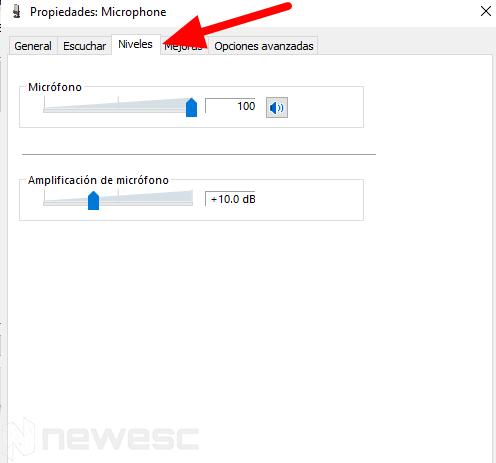 Eliminar ruido de fondo micrófono Windows5