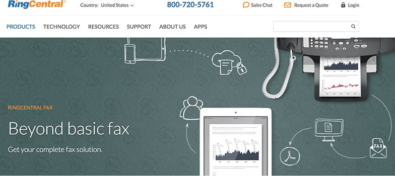 Enviar fax por Internet RingCentral