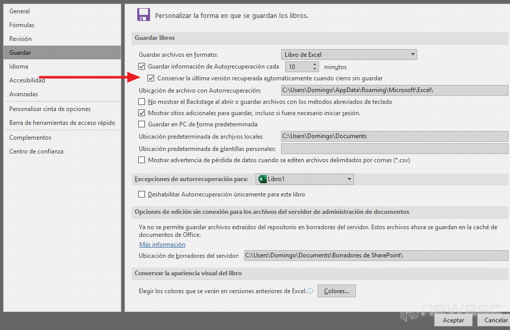 Error en Hoja de Excel - Crear siempre copia de seguridad 2