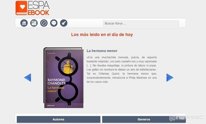 Espaebook página descargar libros PDF