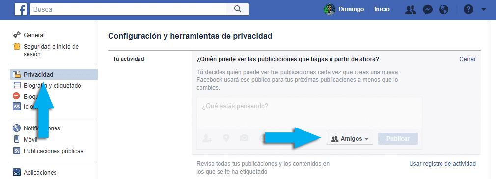 Facebook Limita quien ve tus publicaciones