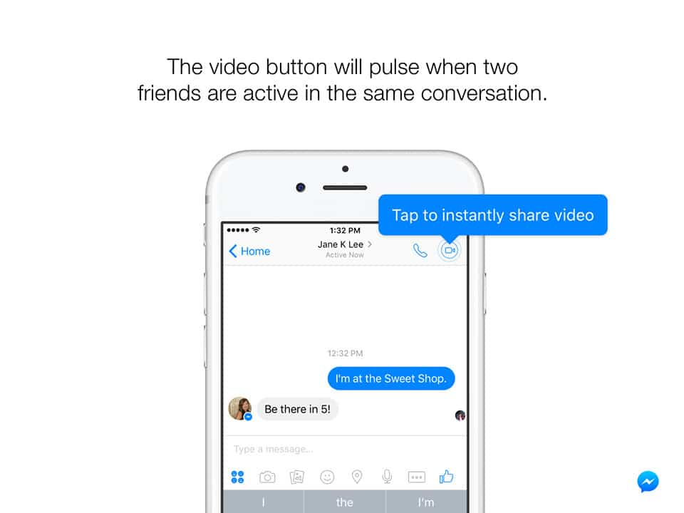 Facebook Messenger Toca para Abrir Instant Video