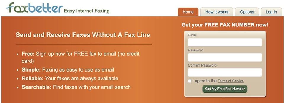 FaxBetter enviar fax gratis