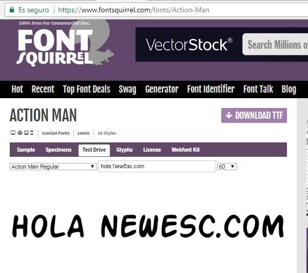Font squirel