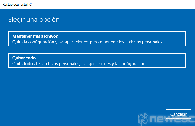 Formatear Windows 10 a valores de Fabrica 003