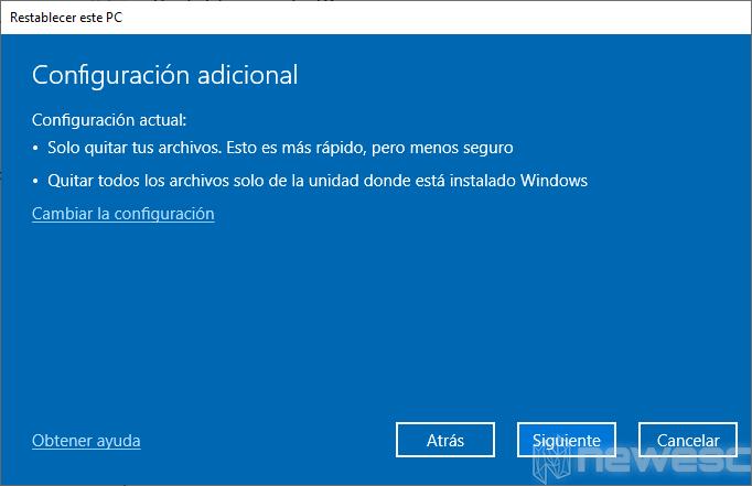 Formatear Windows 10 a valores de Fabrica 004